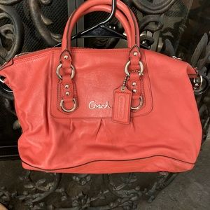 Coach tangerine bag